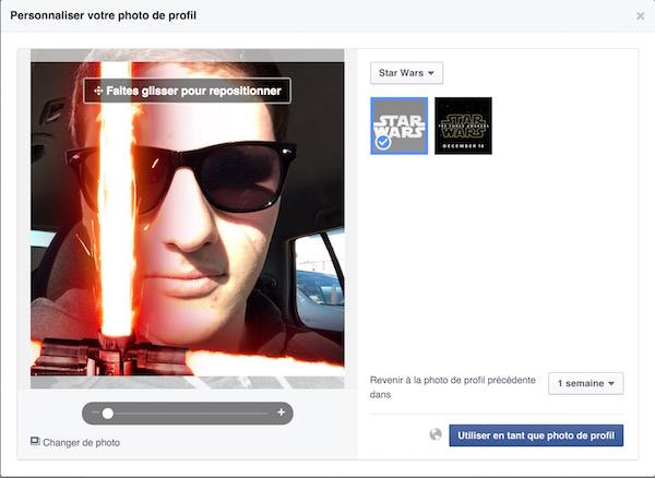 Facebook Photo Profil Sabre Laser Star Wars