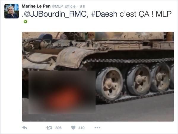 Marine Le Pen Daech Tweet 2