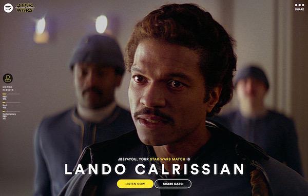Spotify Star Wars Correspondance
