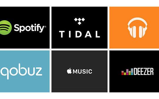 Spotify Tidal Google Play Music Qobuz Apple Music Deezer