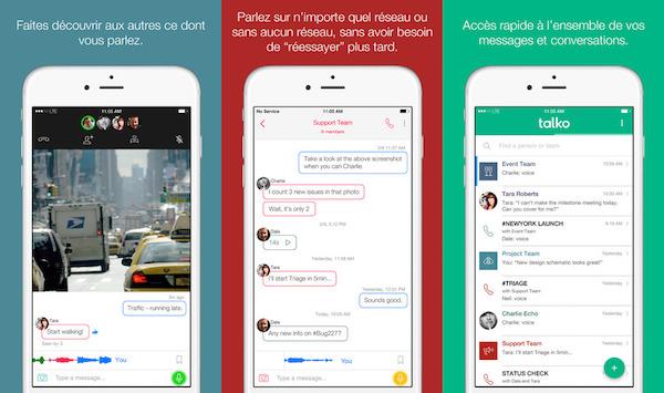 Talko Application iPhone