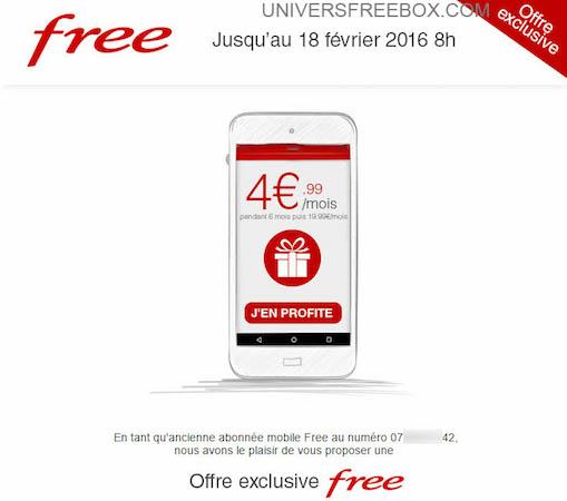 Free Mobile Anciens Abonnes Forfait