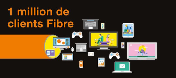Orange 1 Million Abonnes Fibre