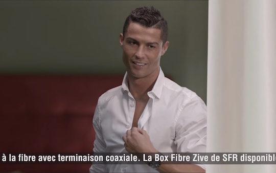 Cristiano Ronaldo Publicite SFR