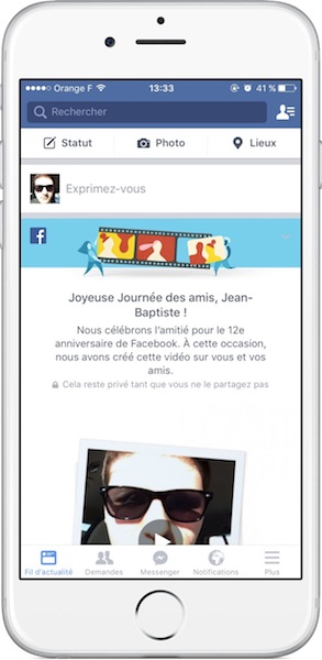 Facebook Video Journee Des Amis