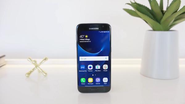 Galaxy S7 Avant Gris Noir
