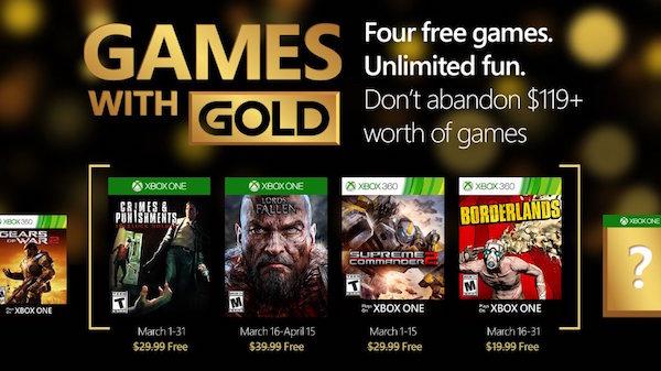 Jeux Offerts Xbox One 360 Mars 2016