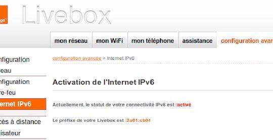 Livebox Play IPv6