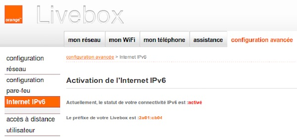 Livebox Play IPv6