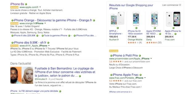 Publicite Google Recherche Droite