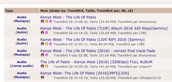 Torrent Life of Pablo Kanye West