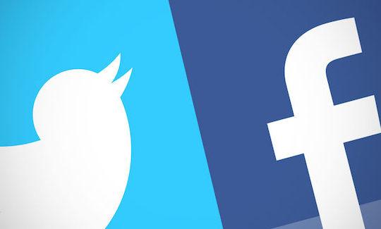 Twitter Facebook Logos
