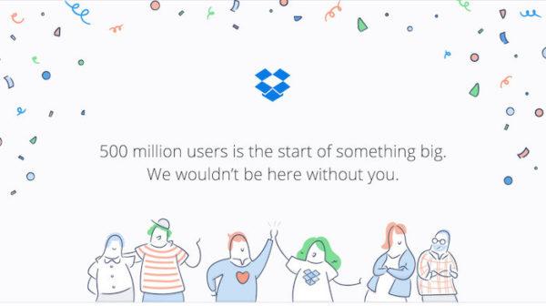 Dropbox 500 Millions Utilisateurs