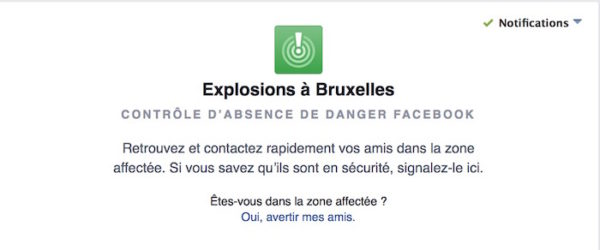 Facebook Safety Check Attentats Bruxelles