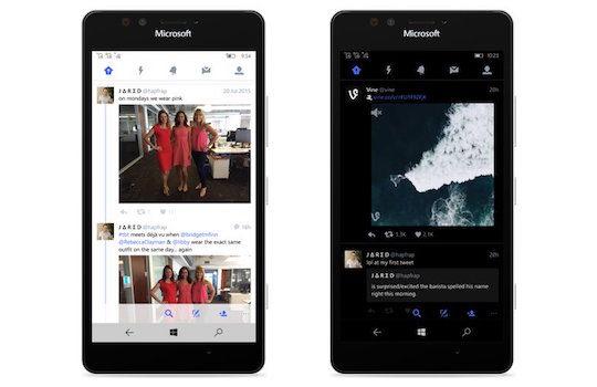 Twitter Application Windows 10 Mobile