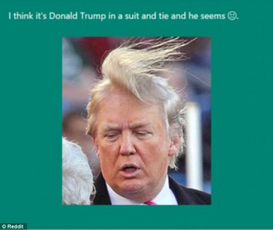 CaptionBot Trump