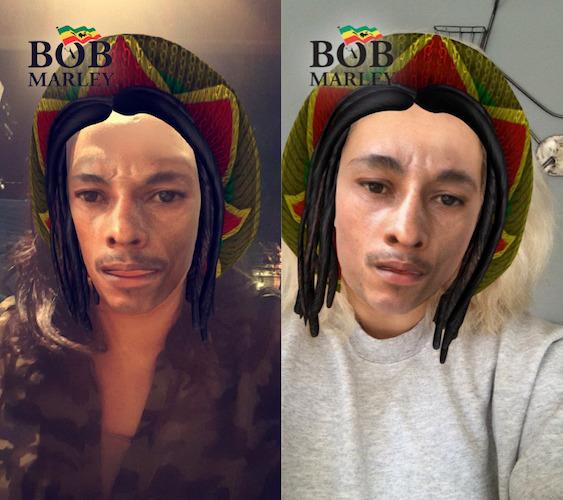 Snapchat Filtre Bob Marley