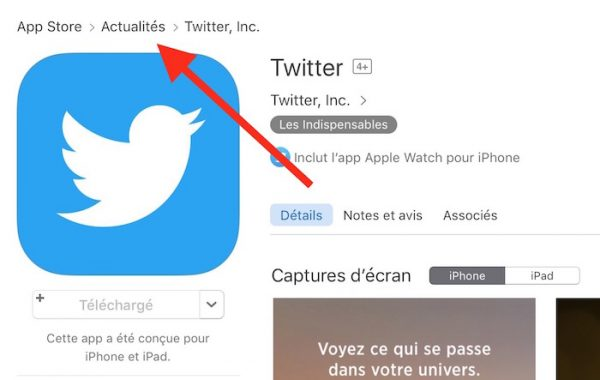 Twitter App Store Actualites