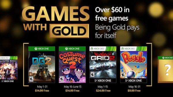 Xbox Live Jeux Offerts Mai 2016