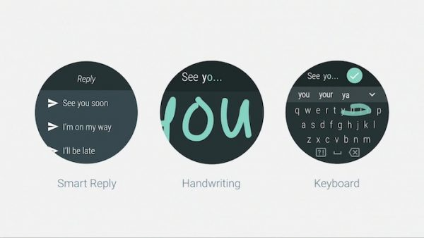 Android Wear 2.0 Messages Clavier