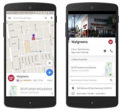 Google Maps Publicites
