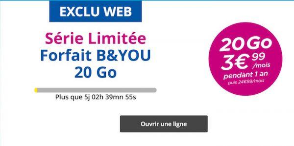 Bouygues Forfait 20 Go 4 Euros Juin 2016