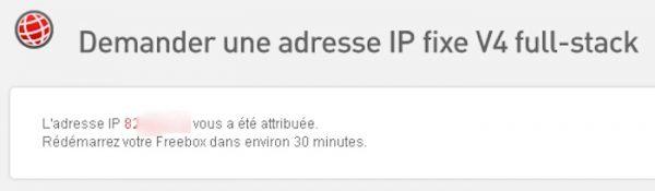 Freebox IP Fixe