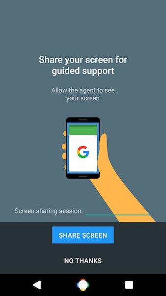 Fuite Google Support Application