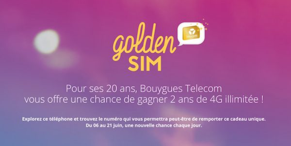 Golden SIM Bouygues Telecom