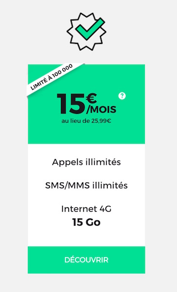 SFR RED 15 Euros 15 Go