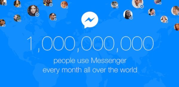 Facebook Messenger 1 Milliard Utilisateurs