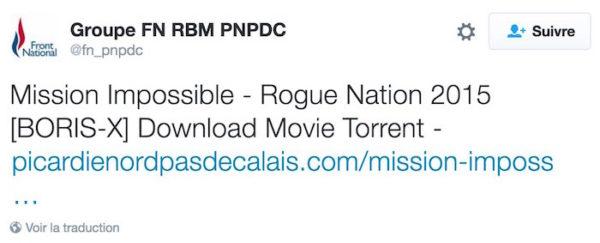 Front National Film Torrent Tweet