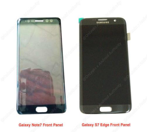 Fuite Galaxy Note 7 Facade Avant