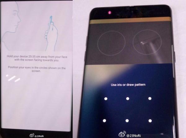 Fuite Galaxy Note 7 Scanner Retinien