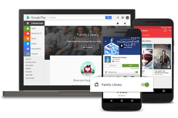 Google Play Butiks familjebibliotek