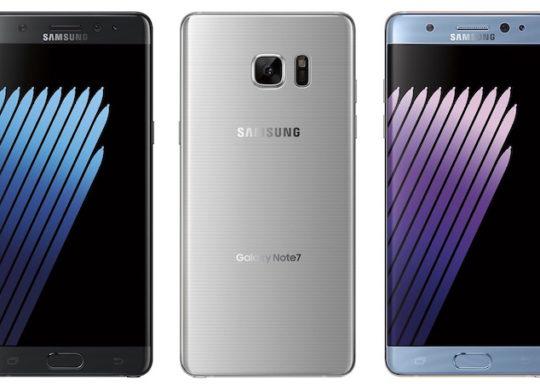 Samsung Galaxy Note 7 Officiel Avant Arriere