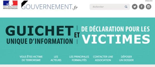 Site Gouvernement Aide Attentat