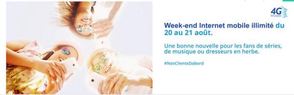 Bouygues Telecom Week End Illimite 20 21 Aout 2016