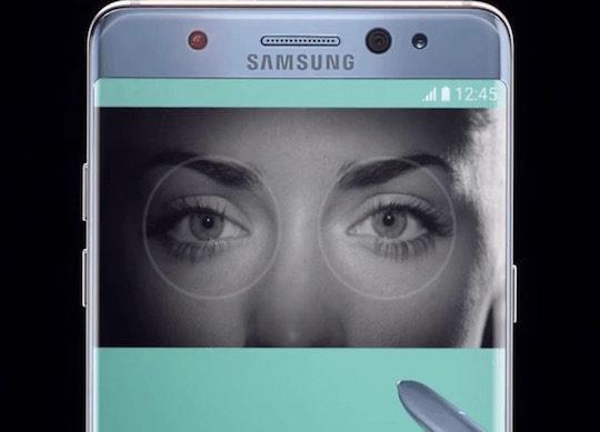 Galaxy Note 7 Scanner Retinien