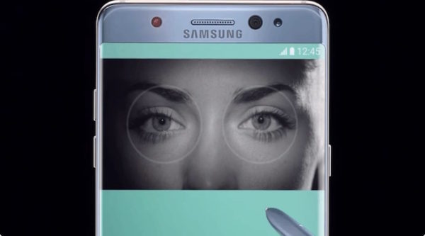 Galaxy Note 7 Scanner Retinien