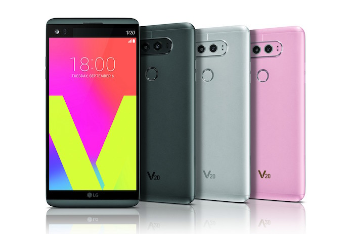 LG V20 Avant Arriere Coloris