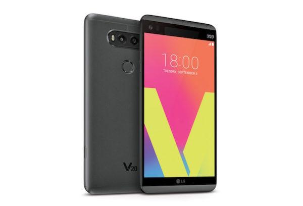LG V20 Avant Arriere Gris 2