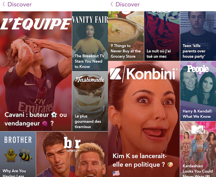 Snapchat Discover Medias Francais