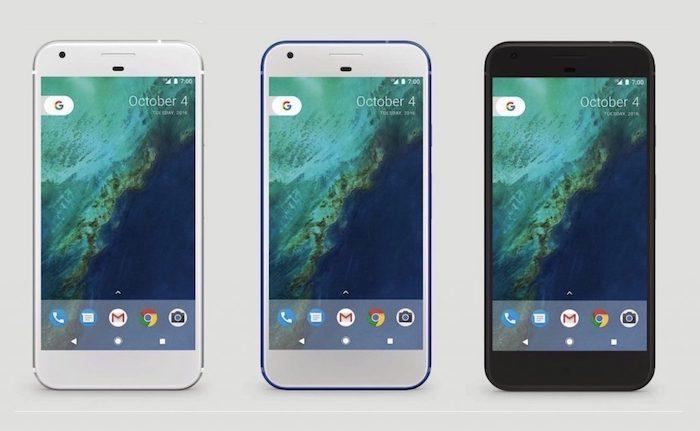 Google Pixel Trois Couleurs Avant