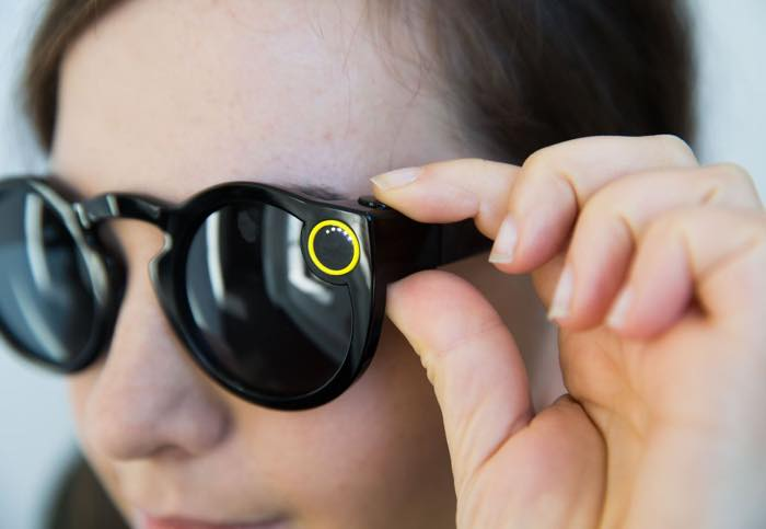 Snapchat Spectacles Bouton