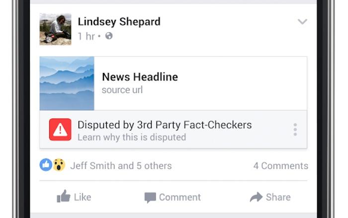 Facebook Avertissement Fausse Information
