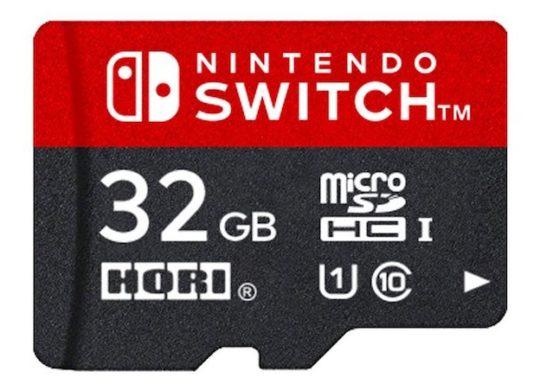 Carte microSD Nintendo Switch Hori