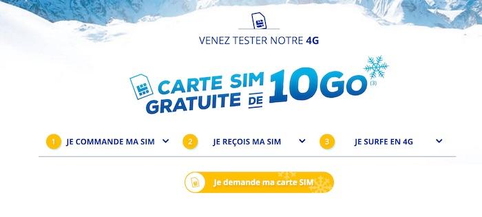 Carte SIM Bouygues Telecom 10 Go Offert Fevrier 2017