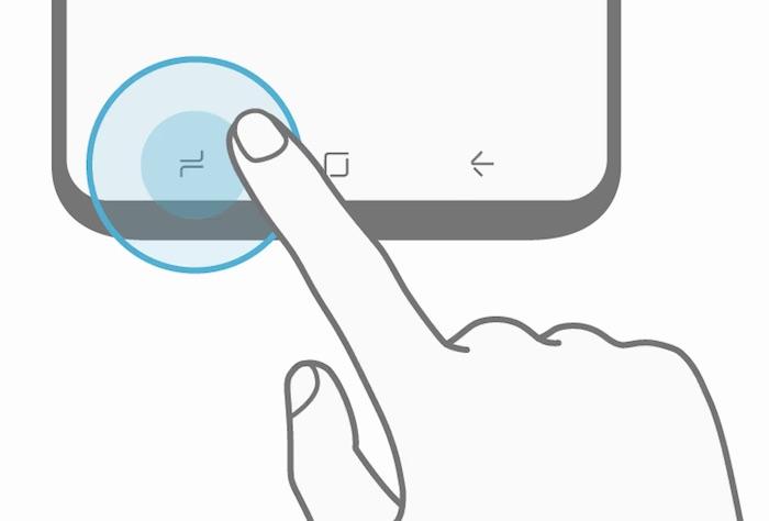 Fuite Galaxy S8 Schema Boutons Virtuels