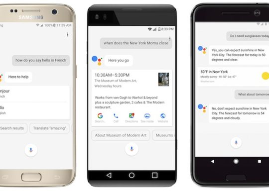 Google Assistant Samsung Galaxy S7 LG V20 HTC 10